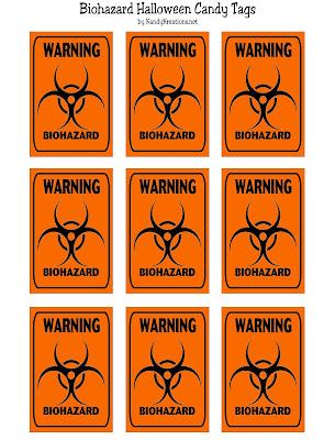 Biohazard Candy Tag Halloween Printable