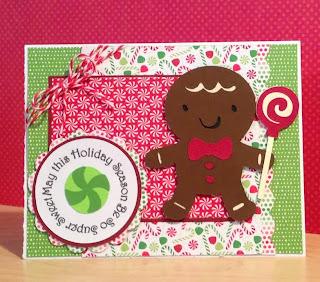 Cricut, Create-A-Critter 2, Elegant Edges, Mini Monograms, Christmas Card