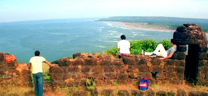 Dil Chahta Hai sence at Chapora Fort, Chapora beach in Goa
