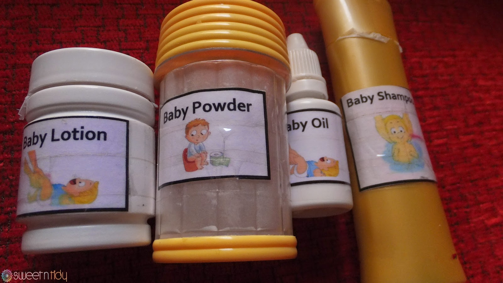 My baby travel size shower set