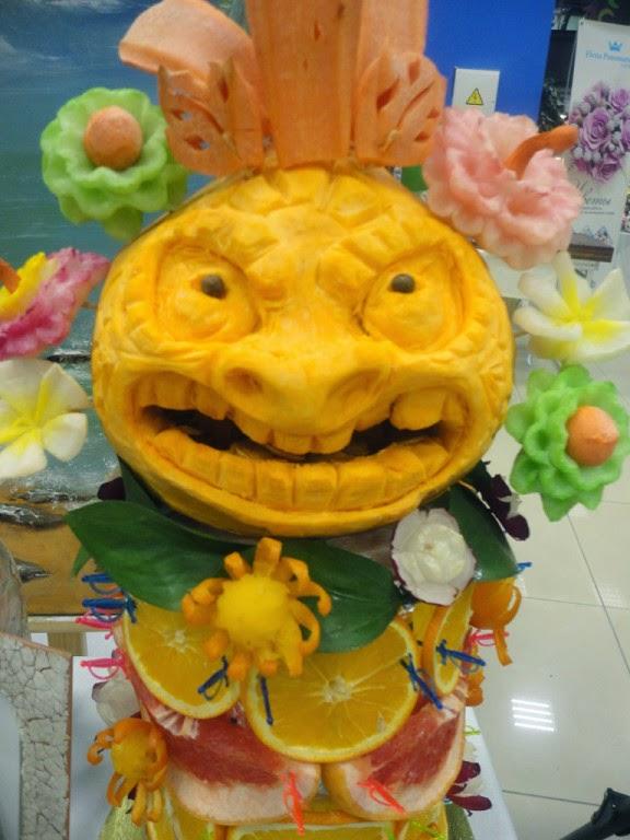 fruit tower hawaiian theme