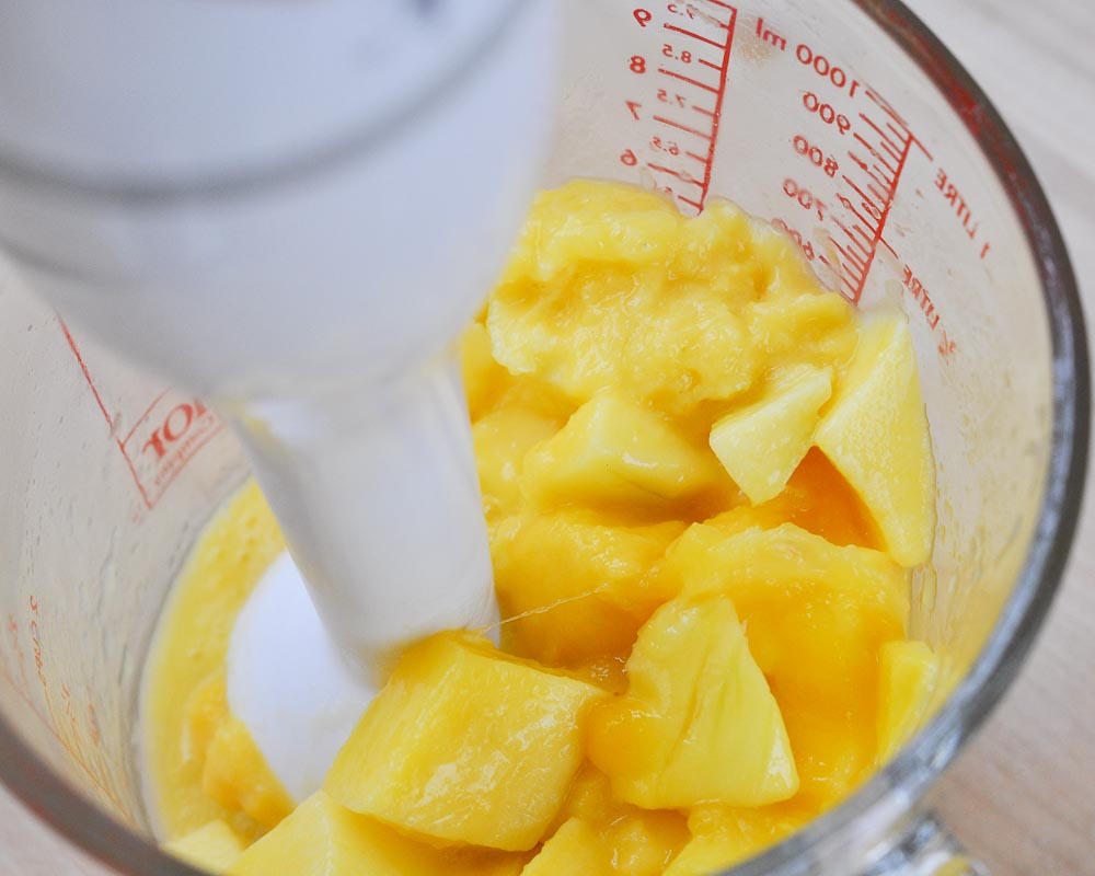 ... was less than the entire bag.) This made 1 1/2 cups of mango puree