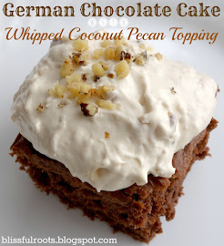 German Chocolate Cake & Whipped Coconut Pecan Topping