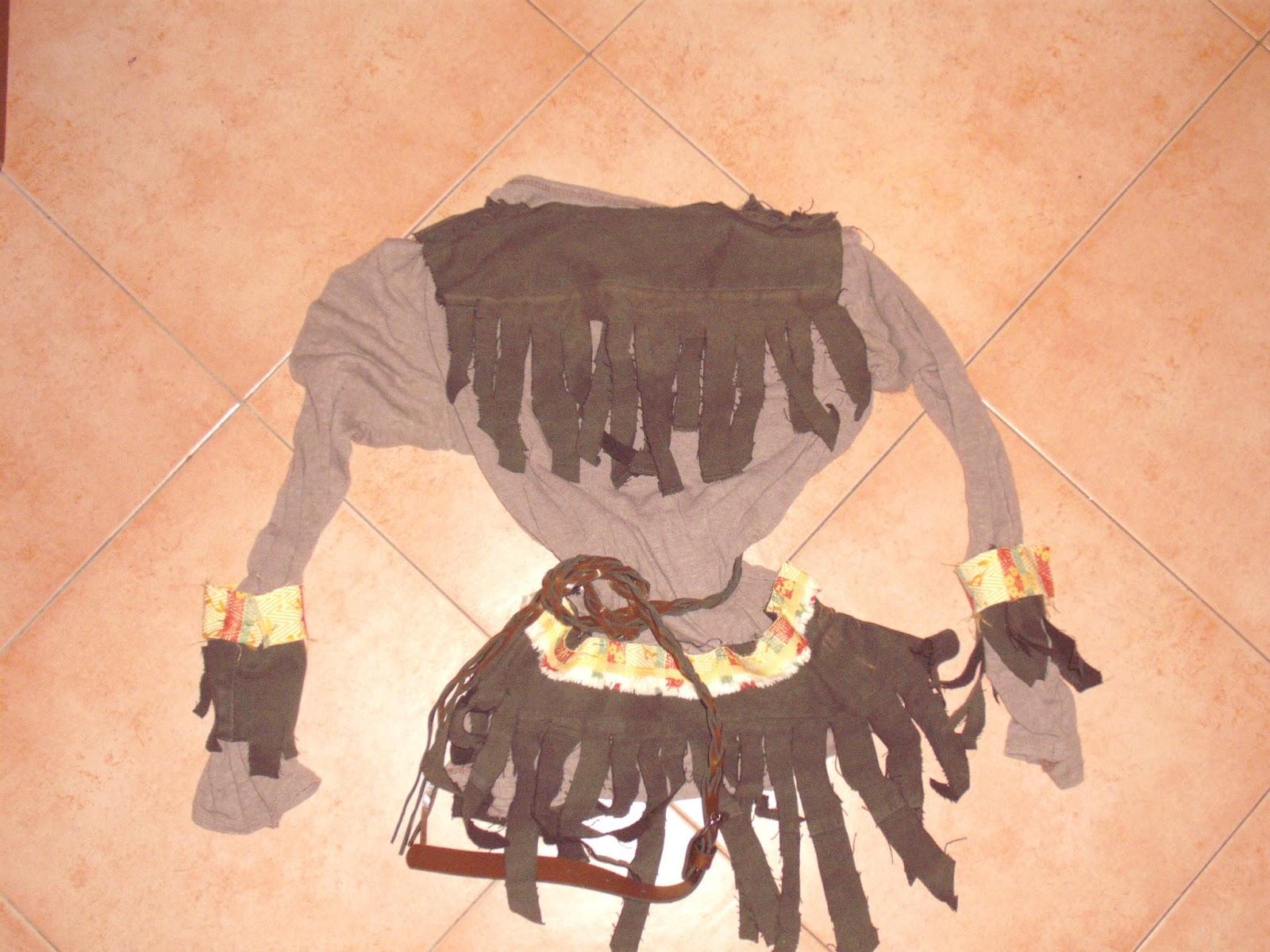 Il vestito da indiano per il marmocchio piu piccolo fatto con una mia ...