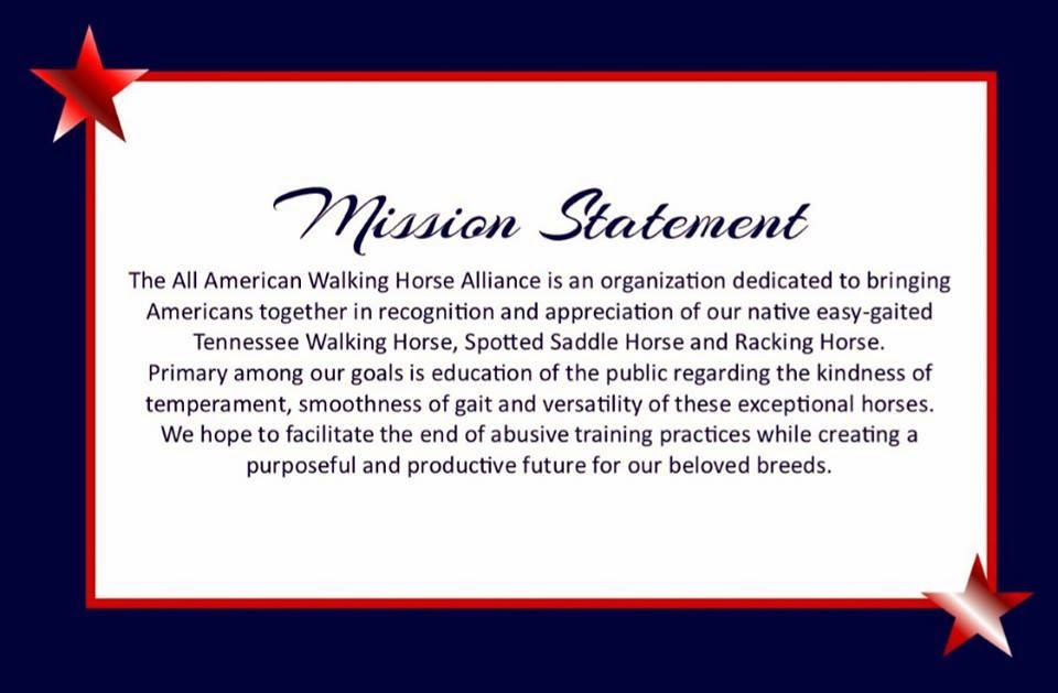 For the tennessee walking horse news all american walking horse the all american walking horse alliance is a brand new grassroots organization that have scheduled to perform a walk on washington on june 18 2014 m4hsunfo