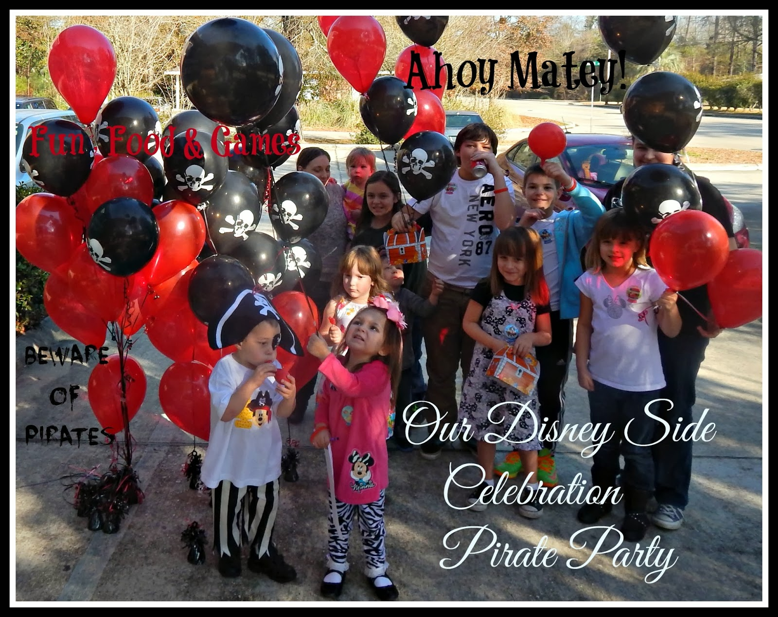 Disney Side Celebration, Pirate Party, Birthday Party