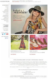 Click to view this June 7, 2011 Nordstrom email full-sized