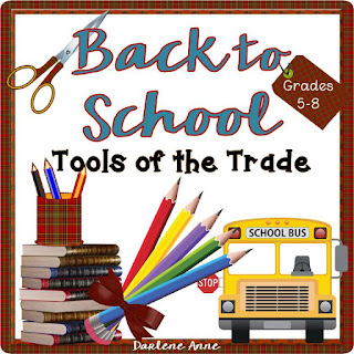 Back to School Tools of the Trade