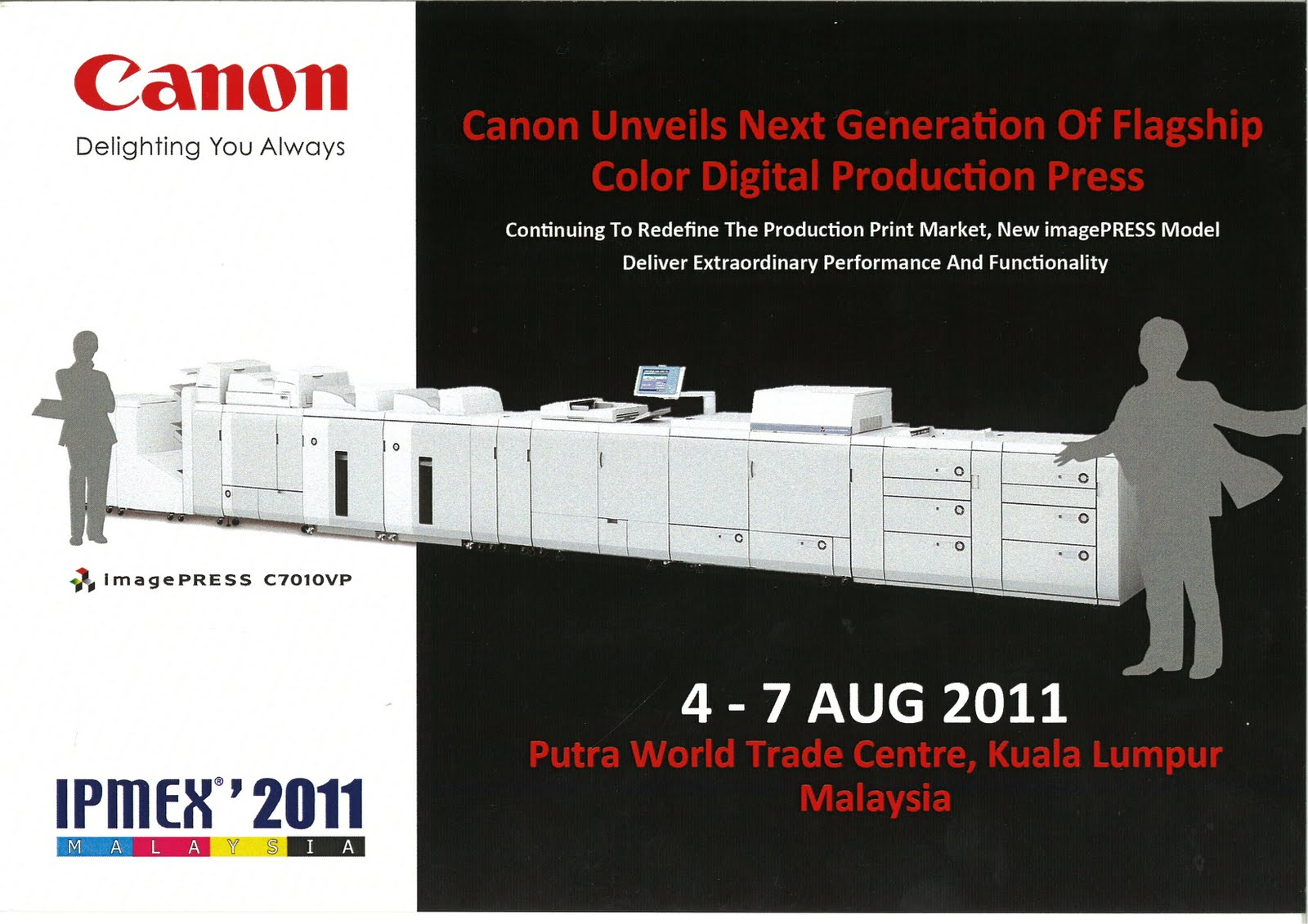 ipmex 2011 invitation from canon marketing malaysia sdn bhd large format printers. Black Bedroom Furniture Sets. Home Design Ideas