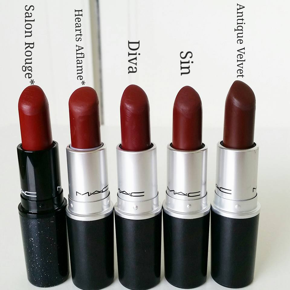 mac dark red lipstick Gallery