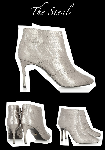 Everyone needs a pair of silver metallic booties! Check out this fab pair by Pour La Victoire