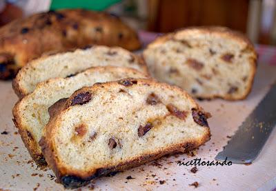 Pane all'uvetta o pan tramvai con lievito madre  ricetta dolce lombarda del fino 1800 dolce simbolo del territorio brianzolo all'Expo 2015