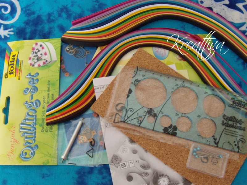 set per quilling e come realizzare dei cuoricini di carta