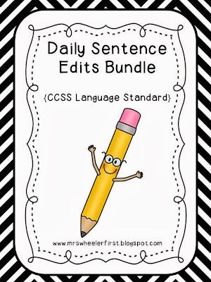 Mrs. Wheeler's First Grade Tidbits: Daily Sentence Editing