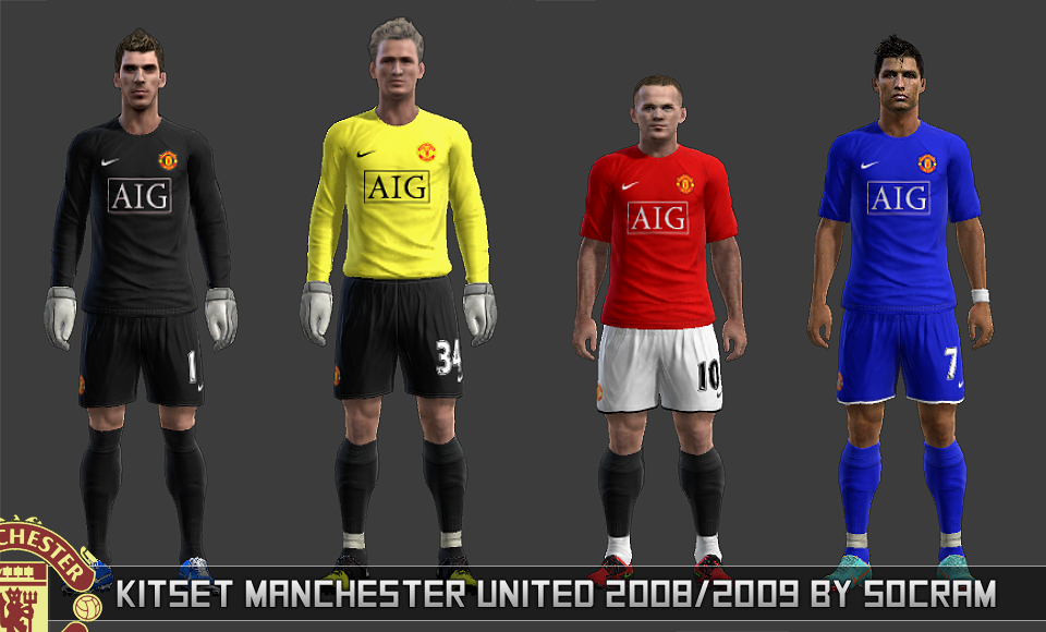 KitSet Manchester United 2008-09 - PES 2013