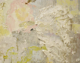 original angel painting with texture by Joan Terrell artist Joan Terrill artist