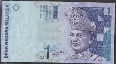 Malaysia 1 ringgit 2000 P#  39
