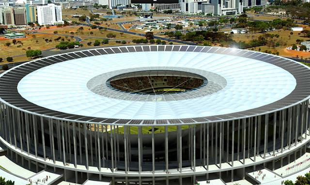 Foto do Estádio Nacional de Brasília diurna