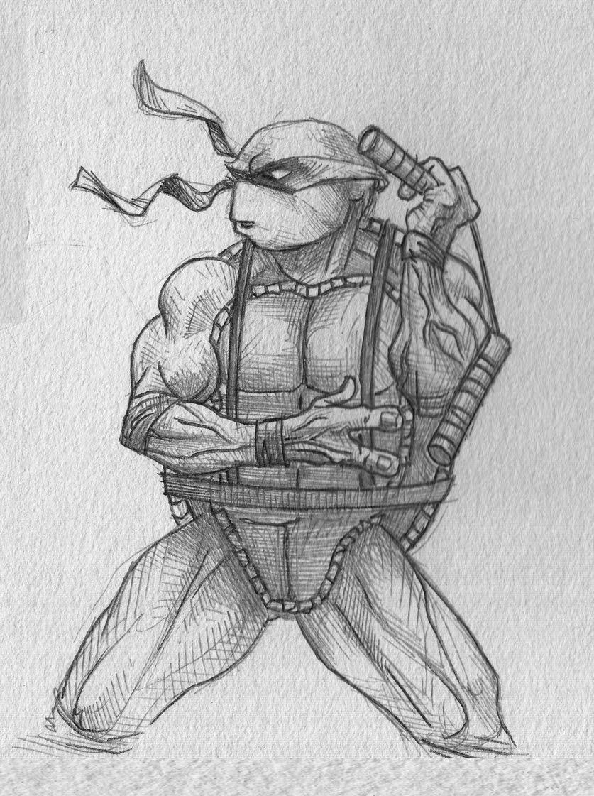 Ninja turtle michelangelo drawing - photo#7