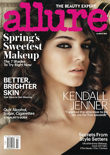 Kendall Jenner Slim Sexy Young Teenage Body Exposed in Black Lingerie For Allure Magazine March 2015