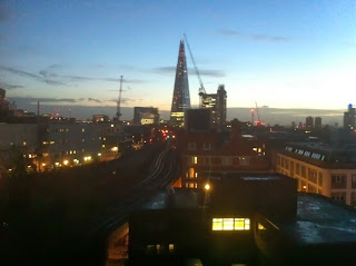 Early morning view of the Shard, London
