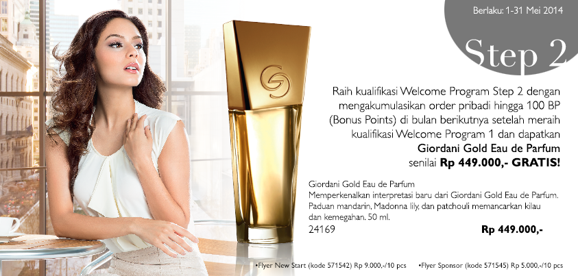 Daftar Member Oriflame Mei 2014 - Hadiah Welcome Program 2