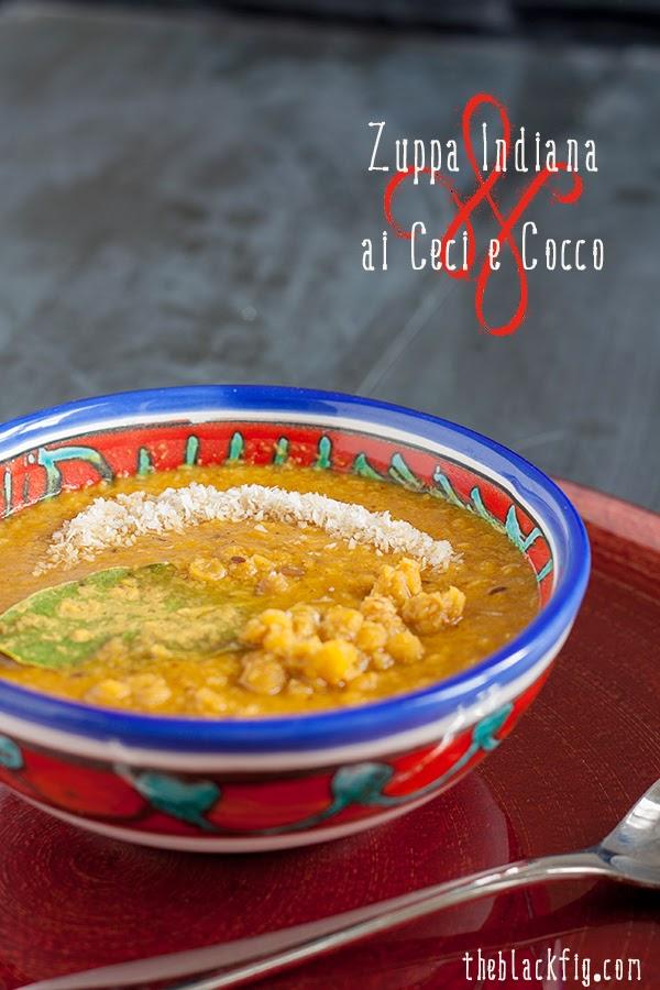 ricetta zuppa indiana ceci e cocco