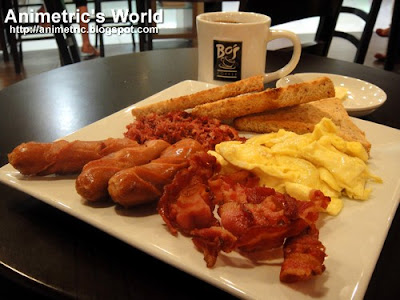 Caffe Americano and Big Breakfast at Bo's Coffee