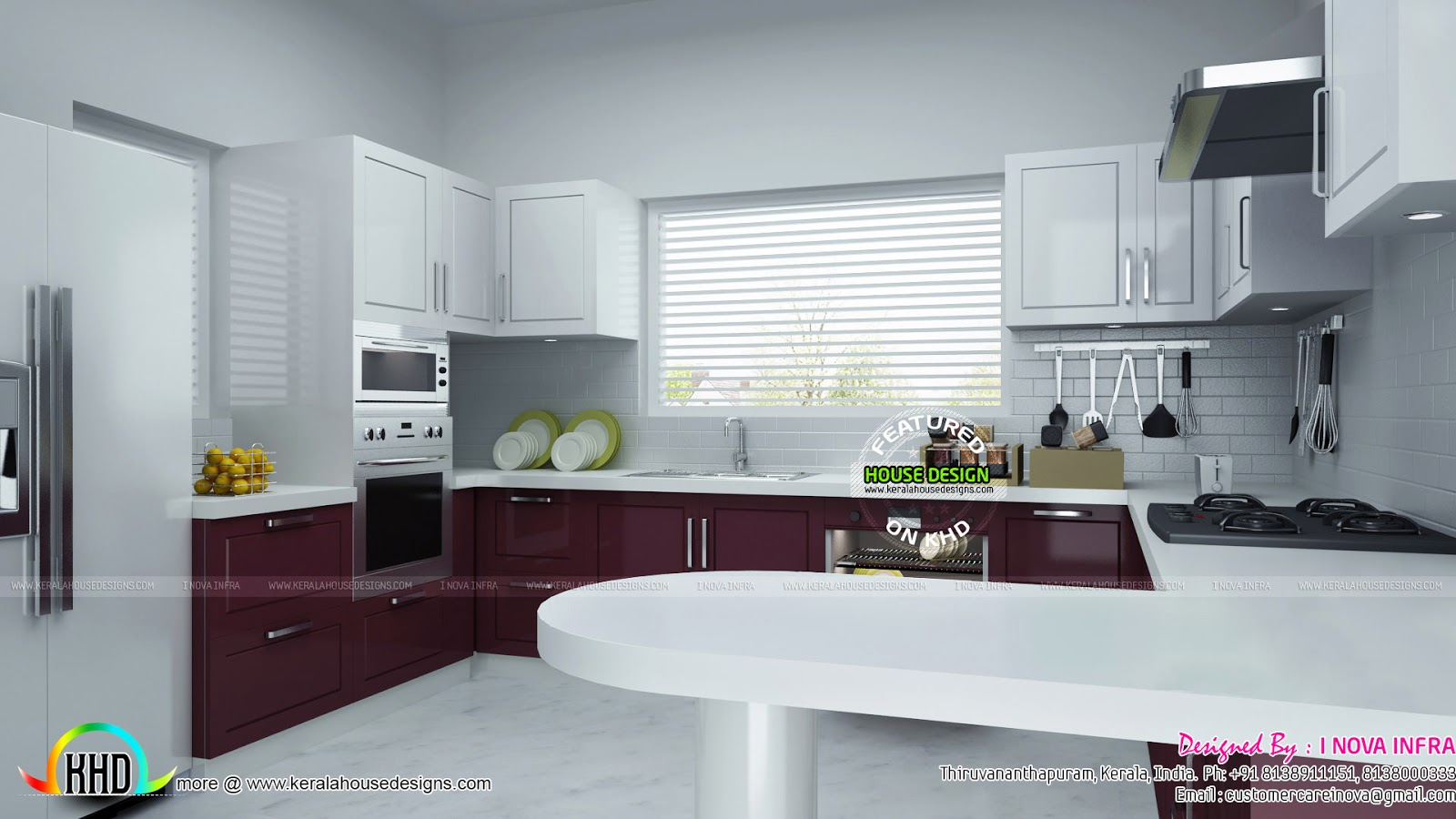 Kerala house kitchen design for Kerala style kitchen photos