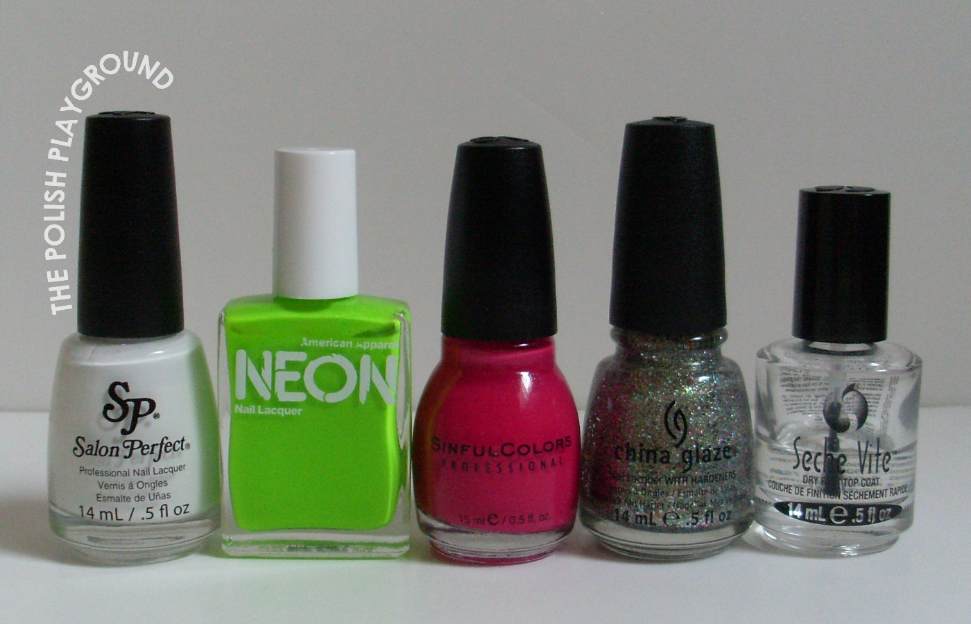 Salon Perfect, American Apparel, Sinful Colors, China Glaze, Seche Vite