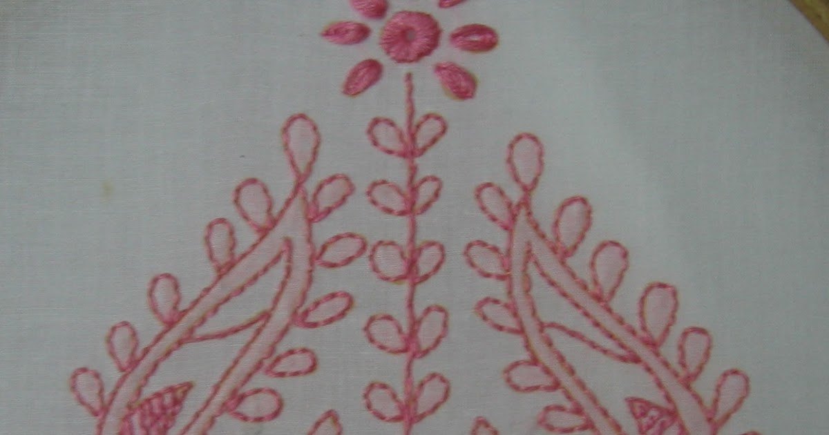 My Craft Works Chikankari Embroidery Motif