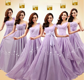 New Stunning 6-design Purple Bridesmaids Dress