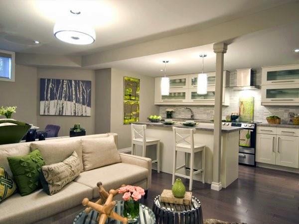 Como Decorar Sala Comedor Y Cocina En Un Solo Ambiente Pequeno ~ también en la elección de colores y combinaciones de las paredes es
