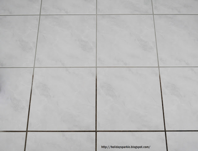 Holiday Sparkle FINALLY CLEAN YOUR GROUT - Bleaching grout floor tiles