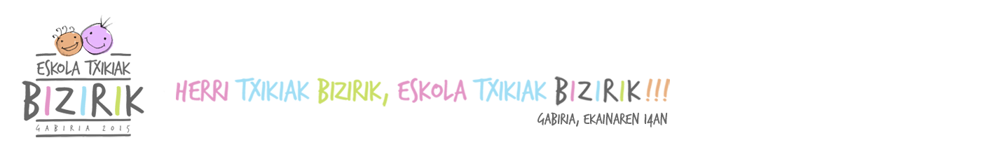 Eskola Txikiak Bizirik - GABIRIA 2015