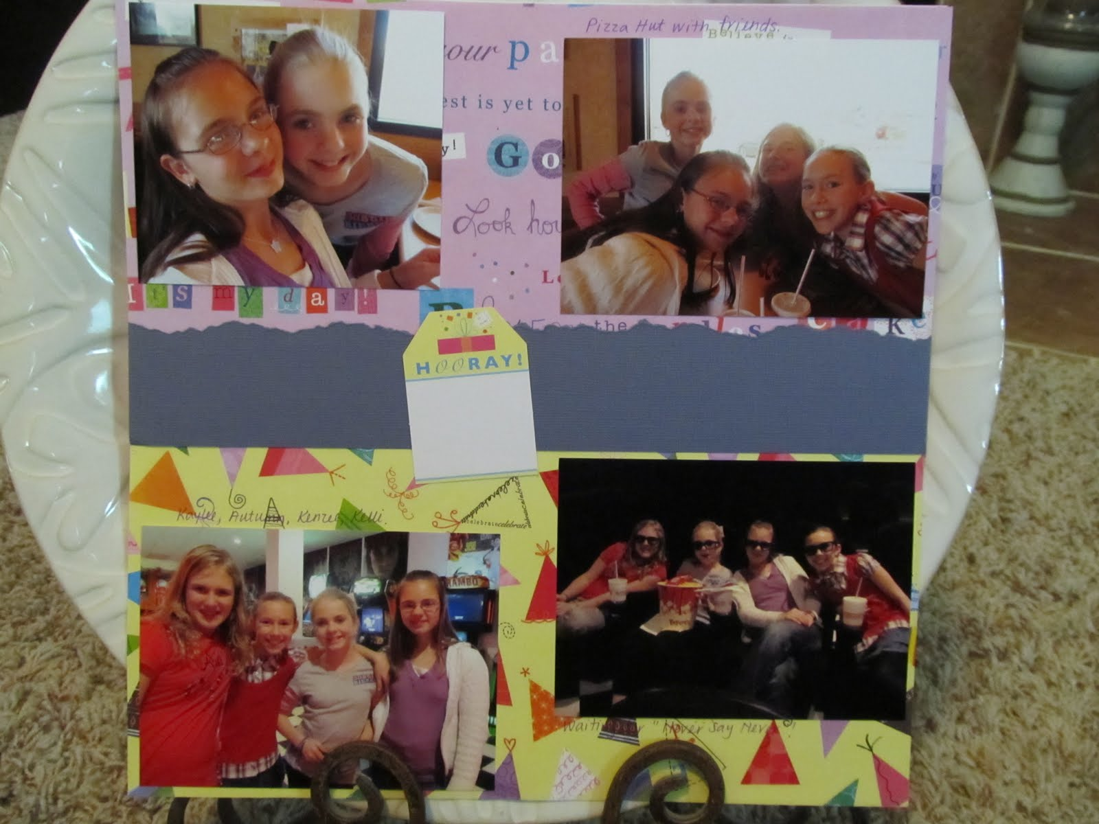 Justin bieber scrapbook ideas - The Girl S 12th Birthday Celebration I Got This Fun Kit Of Paper Diecuts From Goodwill It Just Worked Perfect For These Pictures
