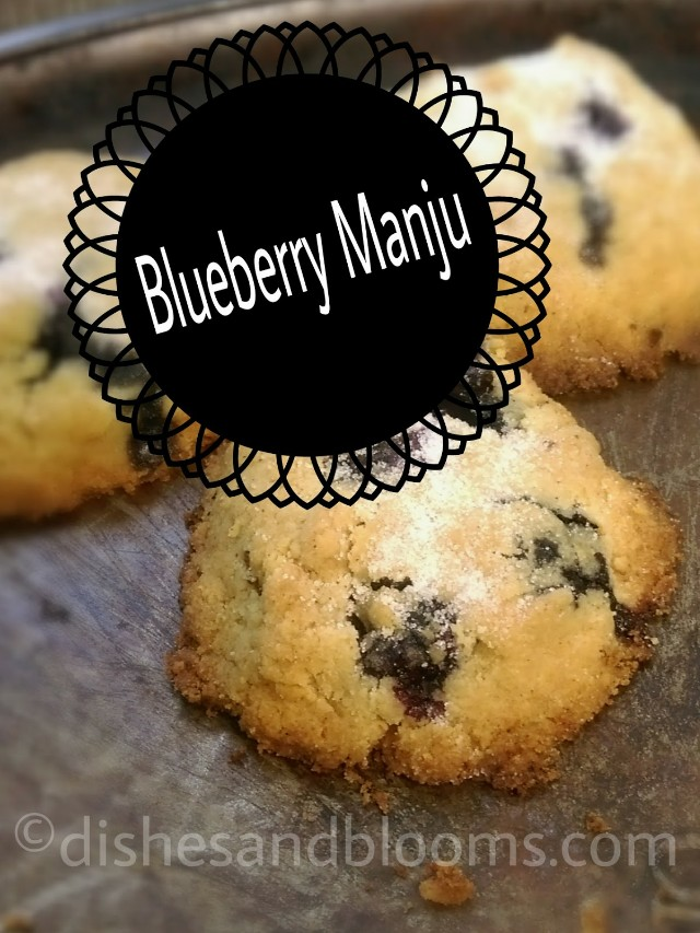 Oriental cookie, Blueberry Manju, this recipe is made with gluten free flour