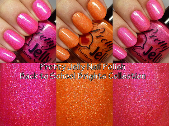 Pretty Jelly Nail Polish Back to School Brights Collection