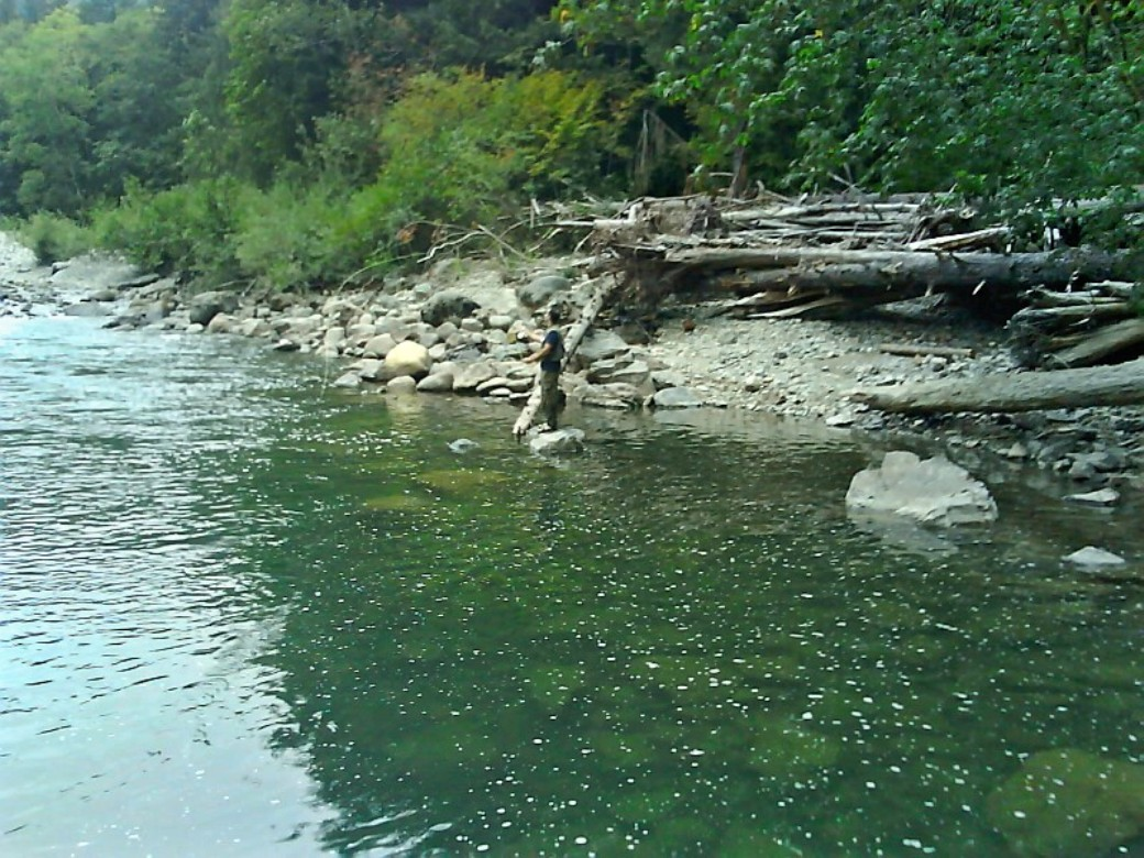 Paul of fame first fish on a fly rod for Snoqualmie river fishing