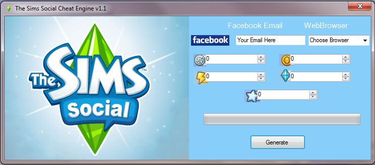 The Sims Social Cheat Engine v1.1