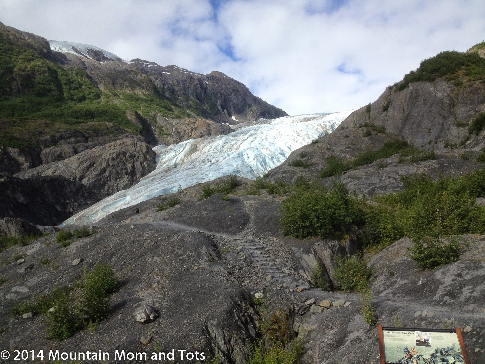 exit glacier kenai fjords national park alaska mountain mom and tots