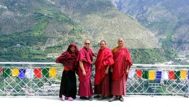 monks in keylong india
