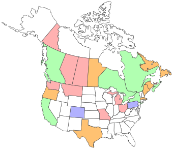 The World Of Gord My States And Provinces Brewery Map - Create map of countries visited
