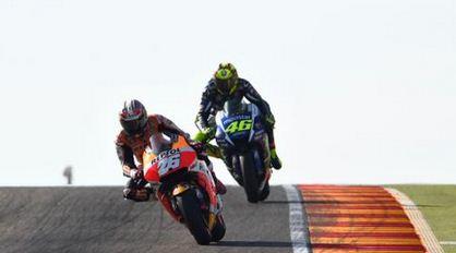 pedrosa vs rossi - motogp aragon 2015