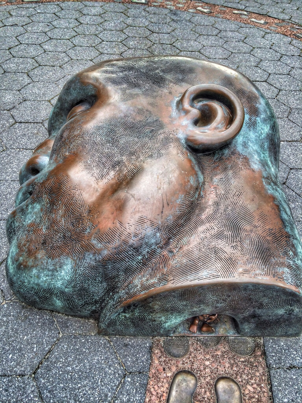 Head & Cave (My Title, A closeup of The Real World :: Tom Otterness 1992) #NYC 2013