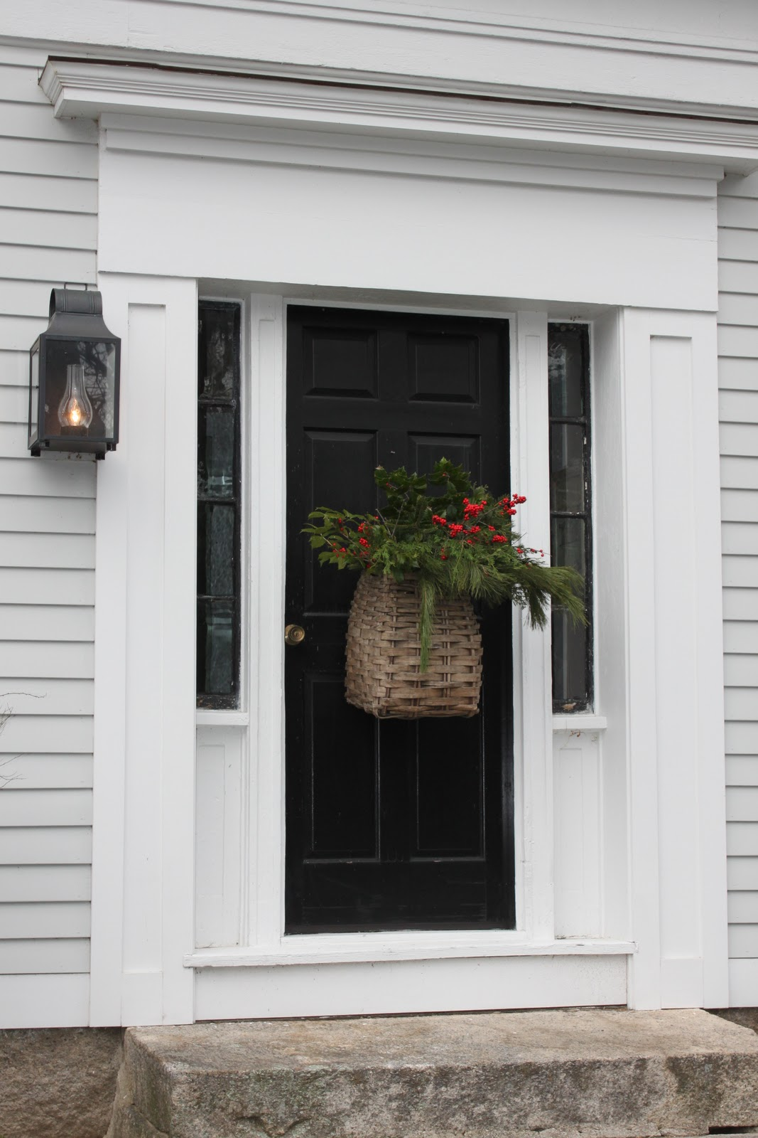 1600 #505936 Spring Hill Farm: Christmas Front Door Decoration image Farmhouse Front Doors 40331067