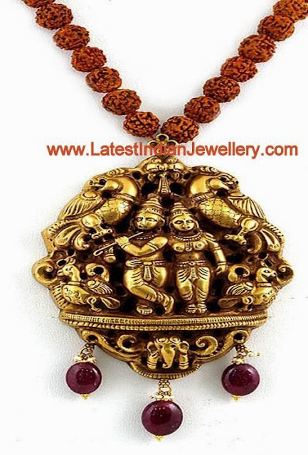 Rudraksh Beads Nakshi Necklace