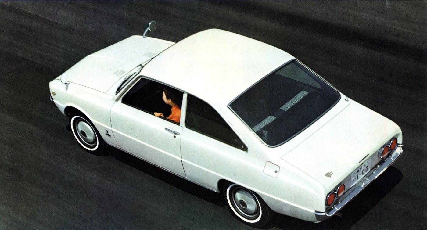 fender mirror, wing, lusterka na błotnikach, mocowane przy błotniku, japoński samochód, motoryzacja z Japonii, JDM, ciekawostki, oryginalne, oldschool, klasyki, nostalgic, stare, klasyczne, modele, dawne, auta, フェンダーミラー, 日本車, Mazda Familia, coupe, FA3, druga generacja, biała