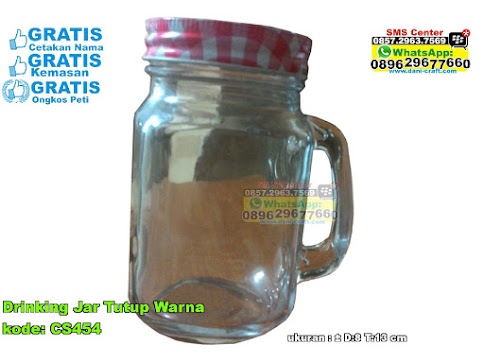 Drinking Jar Tutup Warna