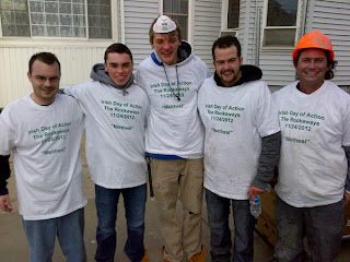 Irish Day of Action - Irish community lends a hand after Sandy